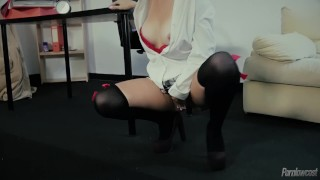 Hot Portuguese School Girl Nina Trevino Prepares For Anal Class