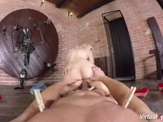 busty babe Angel Wicky in VR porn