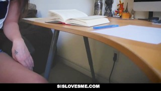 Ass stepsis offers schoolwork for big sislovesme view sislovesme