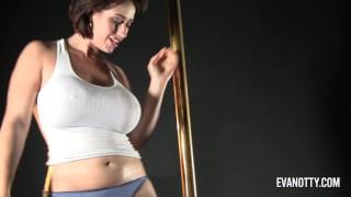 Eva Notty Stripper Pole to Dildo Play