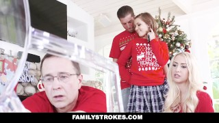 Christmas familystrokes me during family stepsis fucked pictures familystrokes shaved
