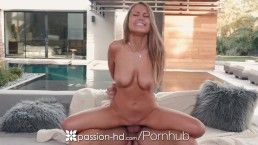 Passion-HD - New years fireworks by the fireplace with Kendall Kayden