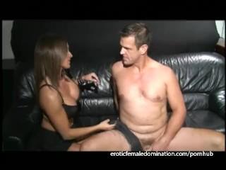 Busty brunette hottie bangs her man massive...