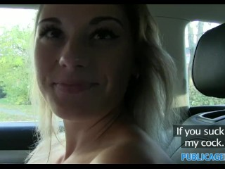Preview 5 of PublicAgent Sexy teacher fucking in a car