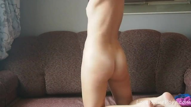 Her shaved slit is now totally naked 8
