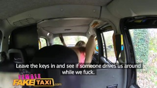 Screen Capture of Video Titled: FemaleFakeTaxi Sexy cabbies get hot and horny