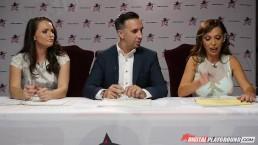 Nikki Benz & Tori Black judging girls blowjob skills in DPStar Season 3 Ep4