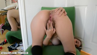 Aali rubs her clit and fingers her bush