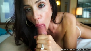 Stepmother swallows son's load Xxx big