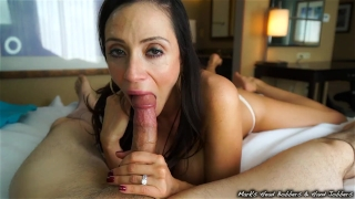 Stepmother swallows son's load Big mom