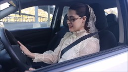 Modest Bride Masturbates in Public Parking Lot