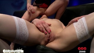 Two Dirty Sluts lick each other's pussies clean - German Goo Girls