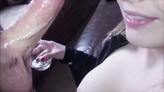 Pov my wine cum fun swallow his double bb drunk cum into loads milking blowjob blowjob