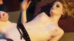 Hot redhead pornstar Faye Reagan gets her pale pussy fucked