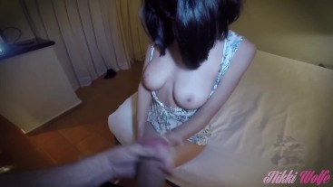 Amazing Babess in Gorgeous Outfit got Fucked and Jizzed all over her Tits!!