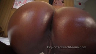 Ebony Girl w Bubble Black Ass in Amateur Video