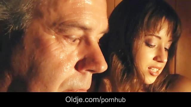 European hottie fucking old guy in the sauna cumshot swallow 16