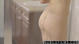 NubileFilms - Hot Shower Sex With Leah Gotti Blowjob step