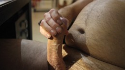 Long Thick Hard Cock to admire - would you get this down your throat?