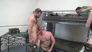 Fucker barracks bareback group rawfuckclub