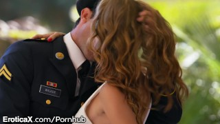 EroticaX Military Wife gets Her Creampie porno