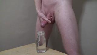 Cumming Hard Into A Jar Of Water -- JohnnyIzFine