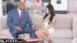 BLACKED Hot Megan Rain Gets DP'd By Her Sugar Daddy and His Friend Tits tit