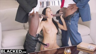 Dp'd and by megan hot daddy friend his her gets rain sugar blacked throat cock