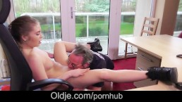 Stunning blonde wife caught old husband fucking as porn actor