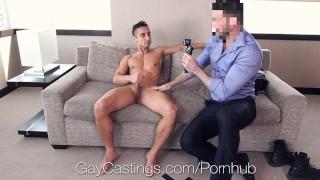 David banged agent mazano by creepy gaycastings big blowjob