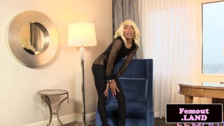 Trans cock megan her black beauty throbbing tgirl striptease