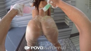 Facialed and leah shower gotti gorgeous povd after fucked sucking big