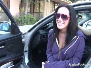 Behind the scenes with Jayden Jaymes and her breast implants