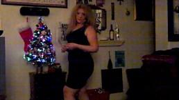 Sexy Blonde MILF Rocking Around the Christmas Tree