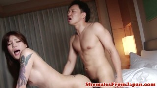 Doggystyle before ladyboy pounded newhalf piercing doggystyle
