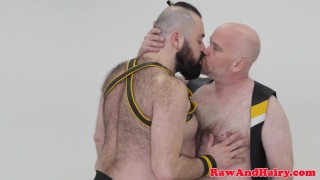 Superchub facefucks and barebacks heavy bear