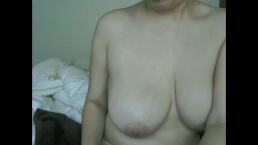 Woman with Big Tits Shaving Sweaty, Hairy Armpits