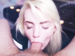 Cute Blowjob & Gagging On Cock