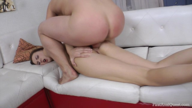 FIRSTANALQUEST.COM-BIG COCK ANAL FOR SLUTTY TEEN IN SHINY HIGH HEELED SHOES 17