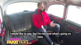 Preview 2 of Female Fake Taxi Sexy driver sucks and fucks fare to get even