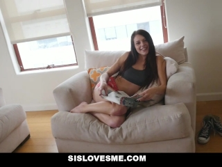 SisLovesMe - Cute Step-Sis Wanted To Cuddle