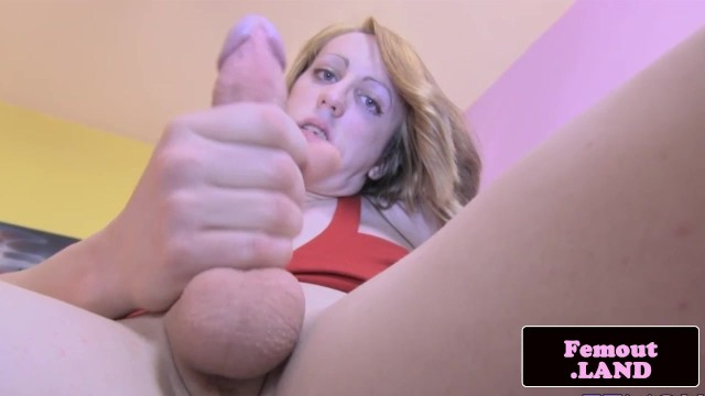 Transitioning to a tranny - Skinny transitioning tgirl solo wanking cock