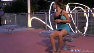Toying amateur teen babe