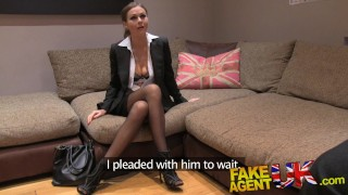 Screen Capture of Video Titled: Fake Agent UK Euro babes peachy arse fingered and fucked in casting