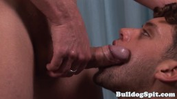 Throating hunk analfucked while jerking off