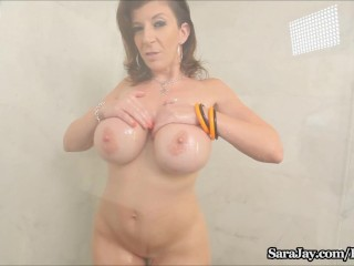 Sara Jay Showers her Big Tits & Ass in the Shower!