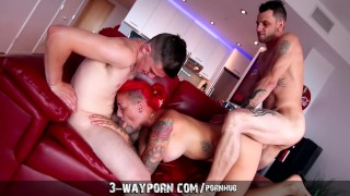 3 Way Porn Real Life Father & Son Fuck Pornstar in Nasty Threesome
