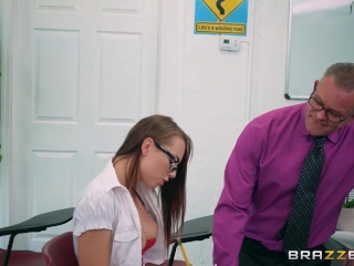 Dirty school girl Aidra Fox loves cock - Brazzers