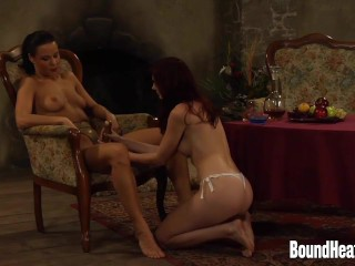 Mistress Enjoying In Young Slave Body And Strapon