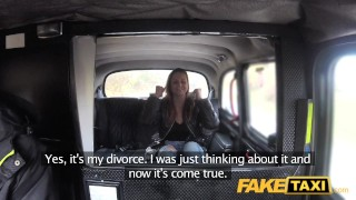 Gets lady fucking fake divorced taxi taxi tits camera